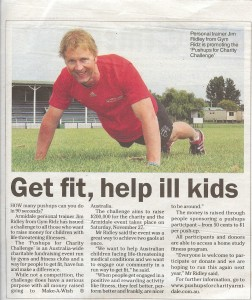 Push Ups fro Charity press release